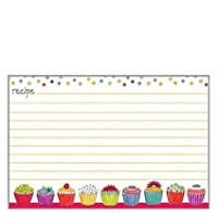 20 lined recipe cards by gina b designs colorful cupcakes by gina