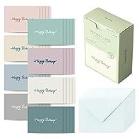 モノライク[メッセージカードハッピーバースデー] メモカード、ミニカード、感謝カード、お祝いカード 40枚封筒20枚セット