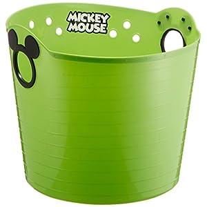 錦化成 ディズニー やわらかバケツ ミッキーマウス グリーン R36 洗濯カゴ・おもちゃ入れのおかたづけに