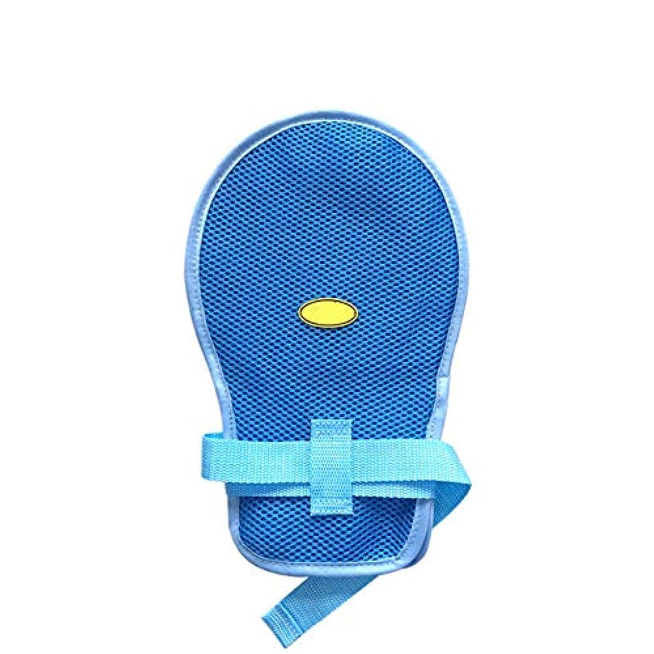椅子実装する思いやりのある医療用コントロールミット - ハンドプロテクターパッド入りミット - 高齢者認知症安全拘束手袋 - ワンサイズ(1個)
