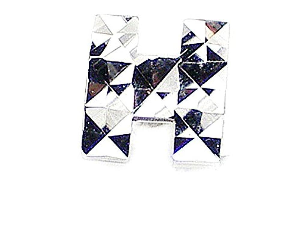 夢中ペグ信号J-Jewelry メンズピアス片耳用/K18WGキラキラ【H】マークピアス