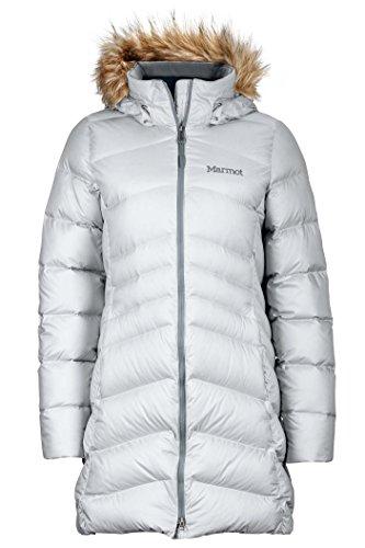 Marmot Montreal Women's Knee-Length Down Puffer Coat, Fill Power 700,Glacier Grey,X-Large