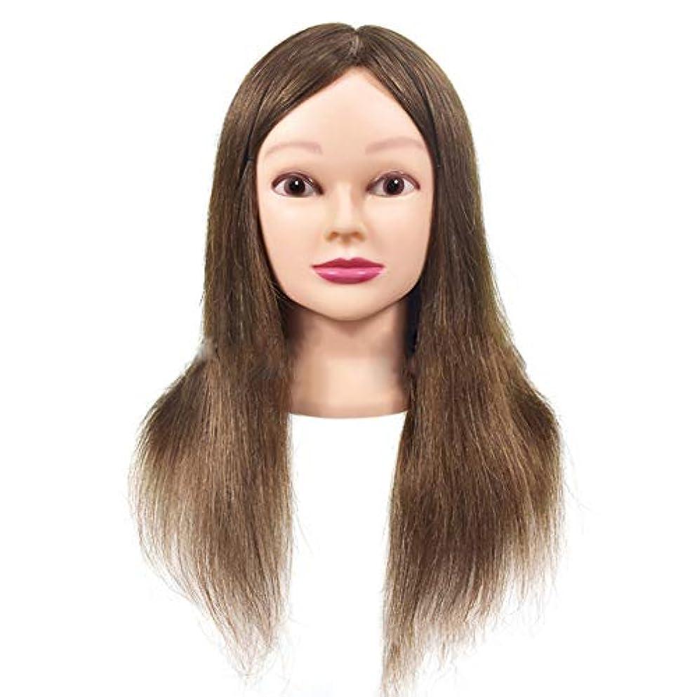 試してみる彼女箱ヘア編みヘアスタイリング練習ヘッドリアル人毛ウィッグヘッド金型メイク学習トレーニングダミーヘッド