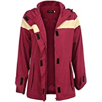 Uniboutique Raincoat Outdoor Womens Casual Active Lightweight Rain Jacket with Hood
