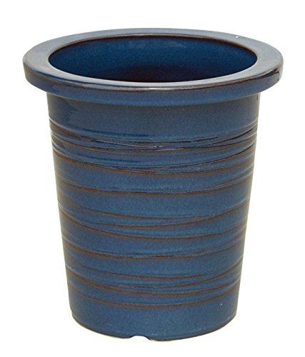 シナ生子糸巻県崖 9号 信楽焼 植木鉢 ガーデニング 陶器鉢