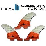 【FCS2 フィン】 ACCELERATOR PC TRIフィン GROM アクセラレーター グロム トライフィン 3FIN