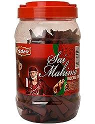 Tridev Sai Mahima フレグランス コーン型お香 500g 瓶 輸出品質