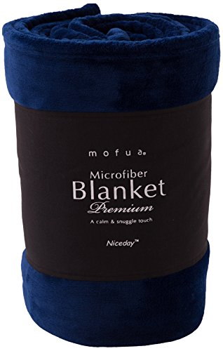 mofua ( モフア ) 毛布 プレミアムマイクロファイバー シングル ネイビー 50000107