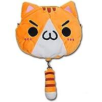 TOMORI Cute Women Anime Kaomoji-kun Emotiction Plush Kawaii Cat Single Cross Body Shoulder Bag