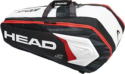 ヘッド HEAD テニス ラケットバッグ ジョコビッチ9Rモンスターコンビ ラケット9本収納可 283048 ブラック×ホワイト BKWH)
