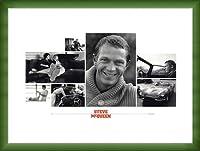 ポスター シド アベリー Steve McQueen(スティーブ マックイーン) 額装品 ウッドベーシックフレーム(グリーン)