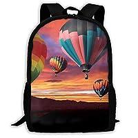 大容量 バックパック 熱気球プリント ビジネスリュック バッグ 男女共用 ショルダー アウトドア 通勤 通学 出張 旅行 多機能