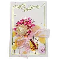 メッセージカード グリーティングカード プリザーブドフラワー ドライフラワー 贈り物 花束 お祝い等に おしゃれ かわいい 結婚 (A)