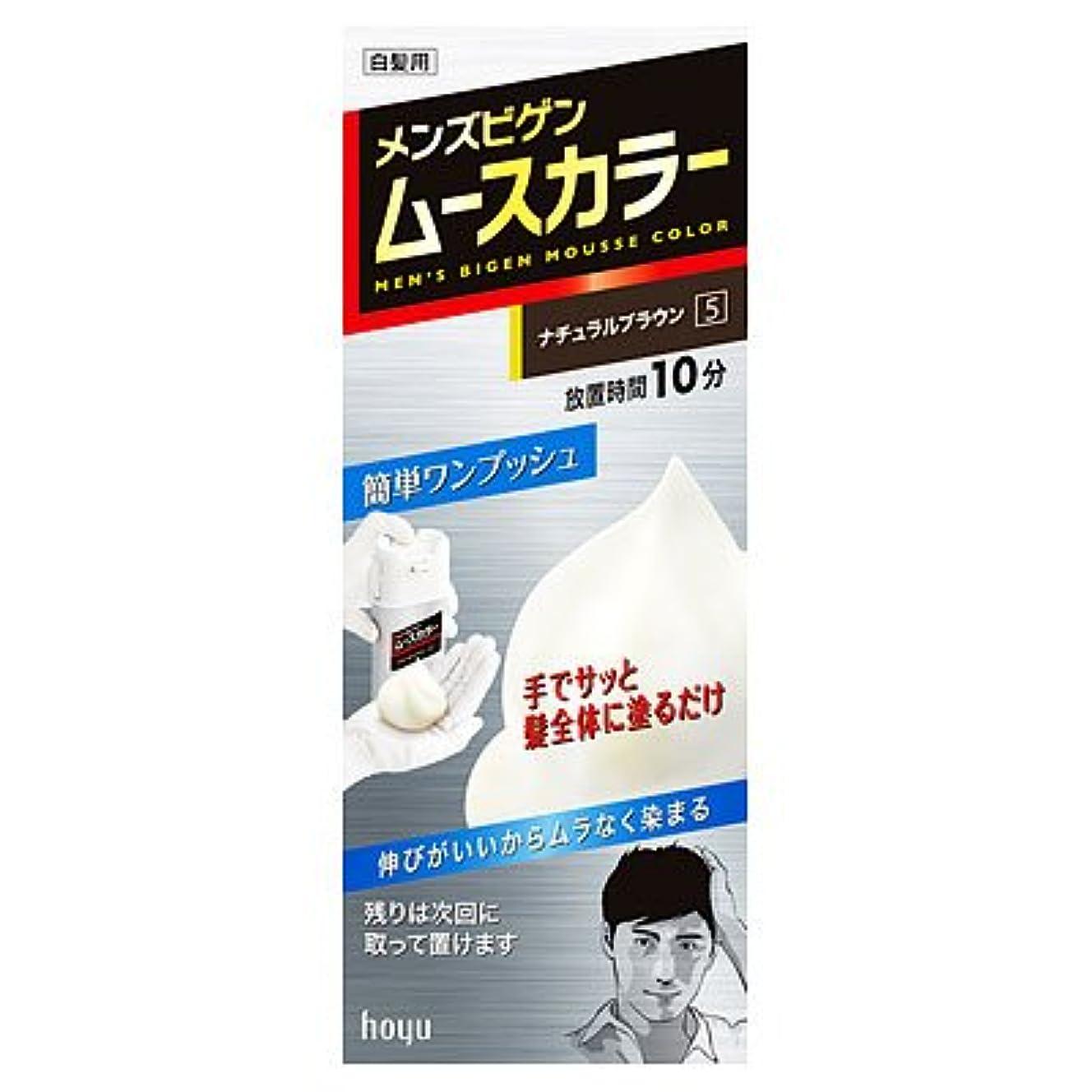トチの実の木防腐剤焦げメンズビゲンムースカラー 5