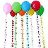 Lumierechat バルーンリボン バルーン 風船 リボン 紐 ガーランド ハート セット 誕生日 結婚式 イベント 3本セット ハート a-5086(3本セット/イエロー)