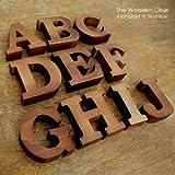 【アジア工房】木彫りのアルファベット文字&数字オブジェ[A] [37タイプ展開] [11553-A] [並行輸入品]