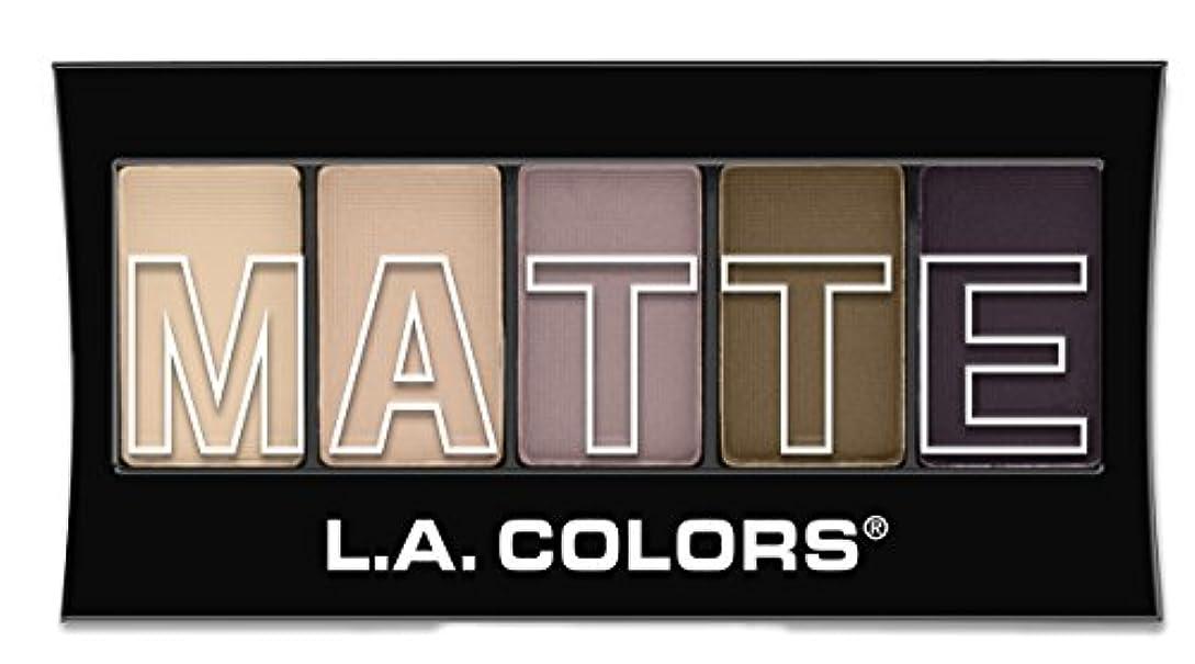 付ける抵抗する独立してL.A. Colors Matte Eyeshadow - Natural Linen (並行輸入品)