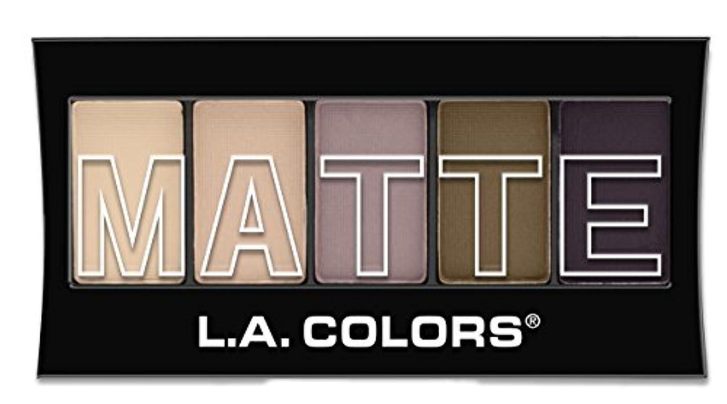 エッセイ戦術カップルL.A. Colors Matte Eyeshadow - Natural Linen (並行輸入品)
