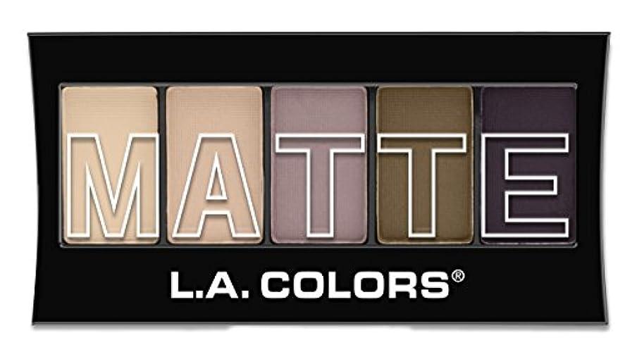 猫背キネマティクス背が高いL.A. Colors Matte Eyeshadow - Natural Linen (並行輸入品)