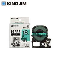 キングジム 「テプラ」PROテープカートリッジ 強粘着ラベル 緑/黒文字 18mm SC18GW 【人気 おすすめ 通販パーク】
