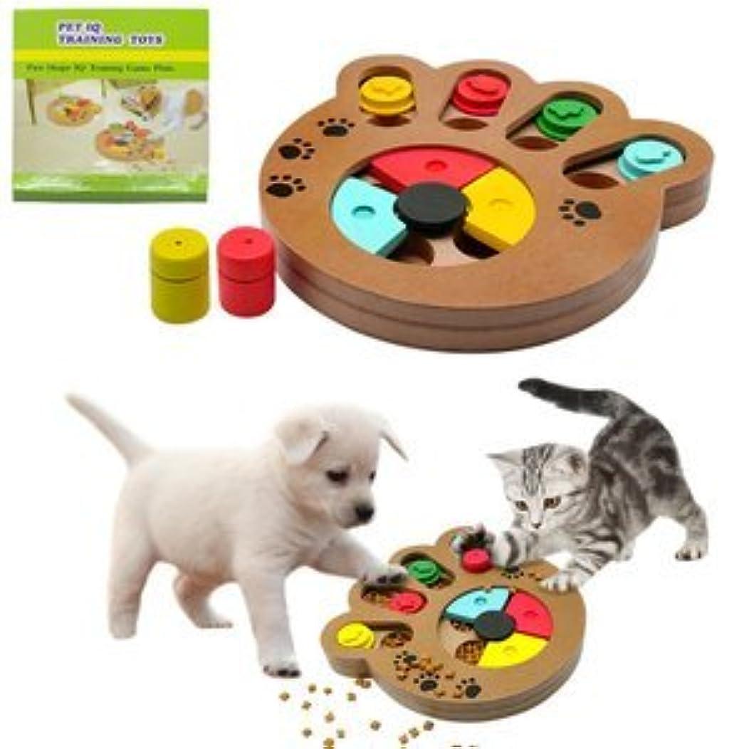 MDF製 ペット用 餌入れ 知育玩具 ホネ型 犬 猫 兼用 健康 プレート おもちゃ TASTE-CT00334D