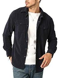 (アーケード) ARCADE メンズ 選べる2種類 細身 タイト ウェスタンシャツ コーデュロイ&フェイクスウェード 長袖 シャツ