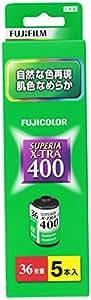 FUJIFILM カラーネガフイルム フジカラー SUPERIA X-TRA 400 36枚撮り 5本パック 135 SP400X-R 36EX 5SB