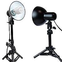ライト電球LED 400ワット写真テーブルトップキット照明Studioライト2個のソフトボックスキューブテント