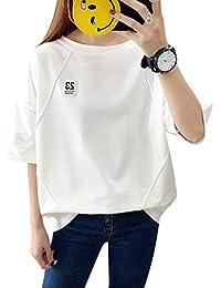 tシャツ レディース 半袖 トップス カットソー ゆったり シンプル 日系