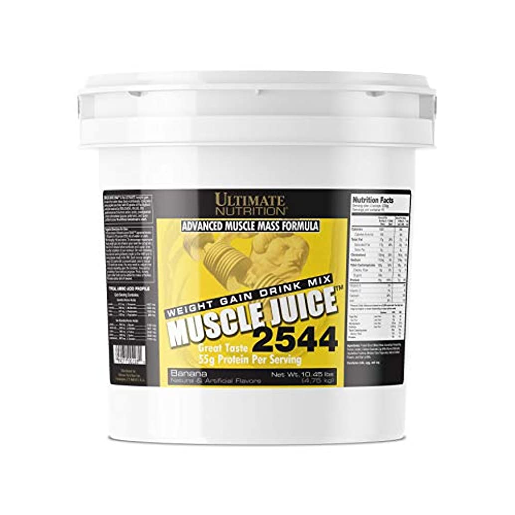 突き出すピービッシュポールマッスルジュース 2544 ウェイトゲイナー 4.75kg (Muscle Juice 2544 Weight Gain Drink Mix 10.45 lbs) by アルティメイトニュートリション (バナナ(Banana))