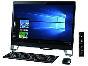 富士通 23型デスクトップパソコンESPRIMO FH77/XD オーシャンブラック(Office Home&Business Premium プラス Office 365) FMVF77XDB