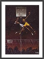 ポスター フランク モリソン Omega Fly Dunk 額装品 ウッドベーシックフレーム(ブラック)