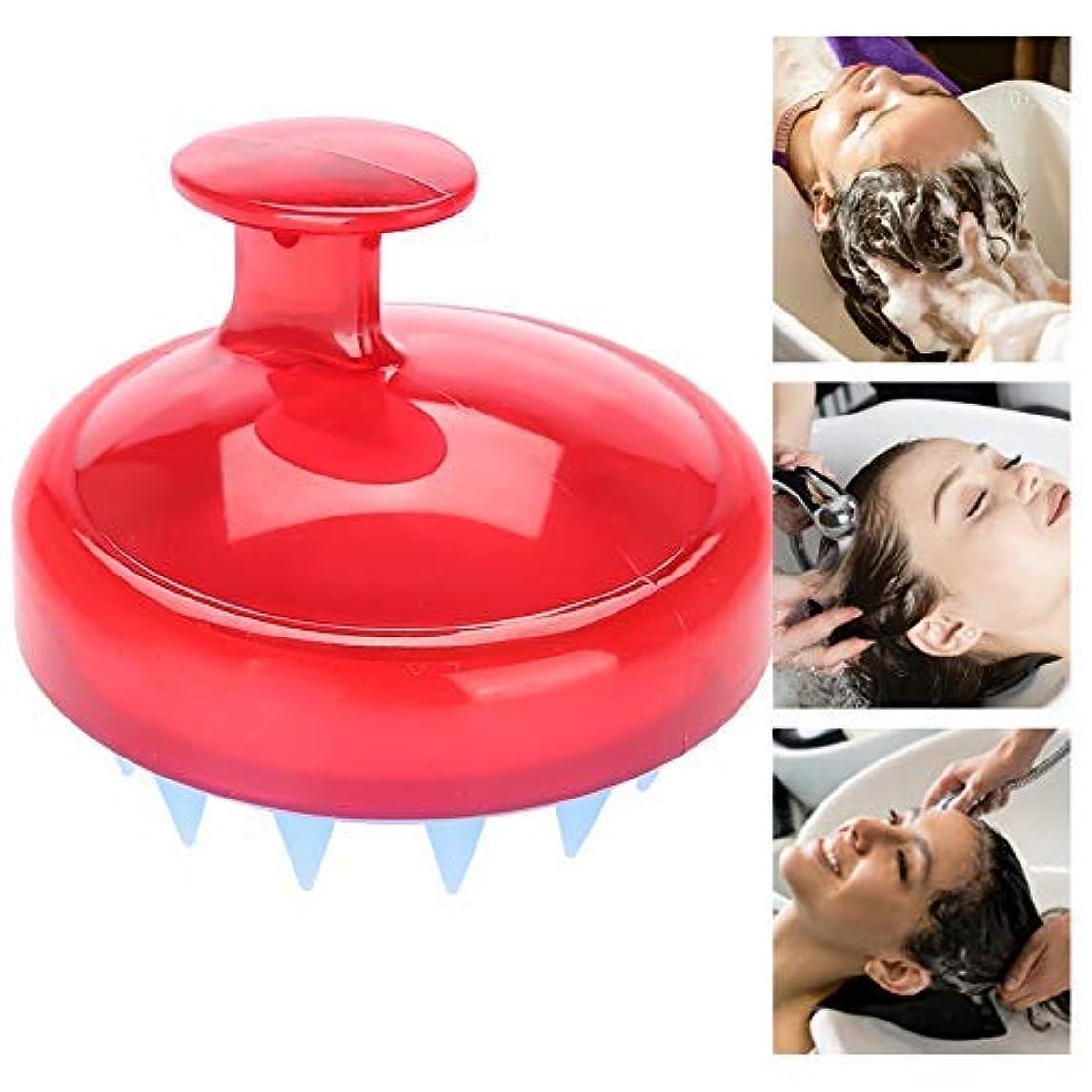 世界的に迷路重要性ヘッドマッサージャー ヘッドスパ 頭皮ケア ヘッドマッサージャー緩和 不眠症改善 髪質改善 睡眠 頭痛改善 血行促進 発毛促進(赤)