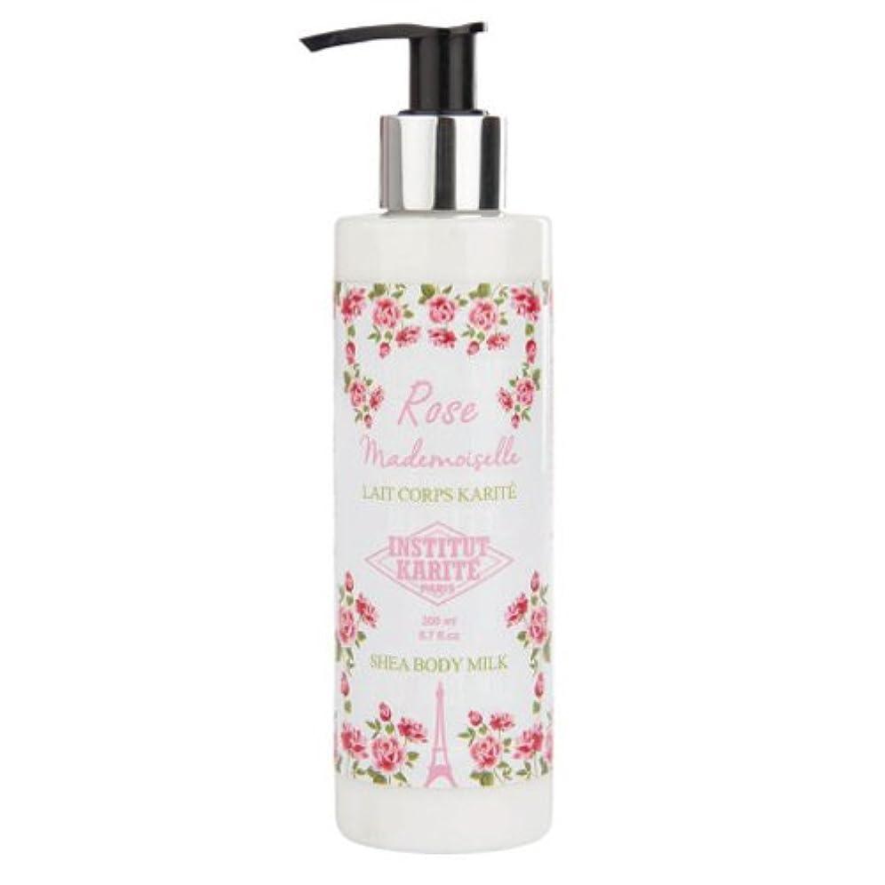 無駄買うジェスチャーINSTITUT KARITE カリテ Rose Mademoiselle クラシックローズ Shea Body Milk ボディミルク 200ml
