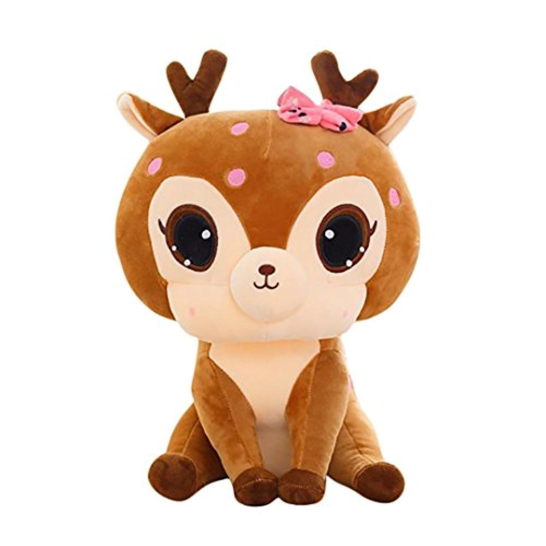 ぬいぐるみおもちゃ、かわいい鹿コレクションStuffed Animal Toy by coerni S ブラウン EIURGH04H3