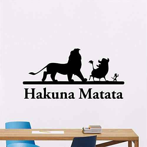 Wall Stickers Art Decor Decals Hakuna Matata Lion King Cartoon Sticker Kids Bedroom Nursery Cartoon