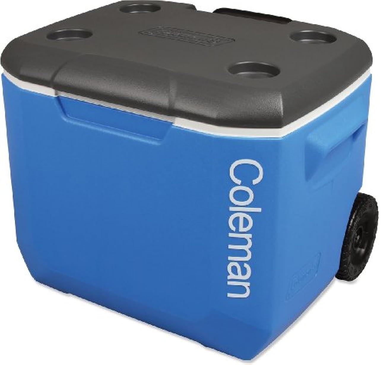 効能あるこどもセンター暴力的な■日本未発売品■COLEMAN 60QT WHEELED COOLER ホイールクーラー BLUE/WHITE