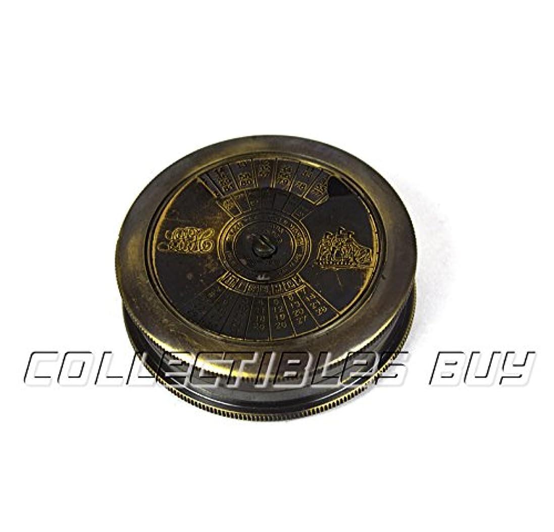 パラシュート天の心理的MaritimeナビゲーションNautical Compass Vintage Instrumentロバート?フロスト詩Compasses真鍮