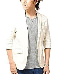 Re-AP (リ.エーピー) テーラードジャケット コットンリネン 7分袖 サマージャケット テーラード メンズ