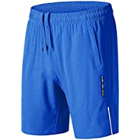 KEFITEVD Workout Shorts for Men Quick Dry Gym Shorts Lightweight Running Shorts with Pockets