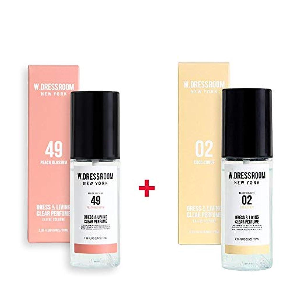 バックまで工業化するW.DRESSROOM Dress & Living Clear Perfume 70ml (No 49 Peach Blossom)+(No .02 Coco Conut)