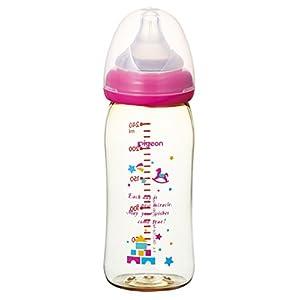 ピジョン Pigeon 母乳実感 哺乳びん プラスチック製 トイボックス柄 240ml 0ヵ月から(付属の乳首は3ヵ月頃から) おっぱい育児を確実にサポートする哺乳びん
