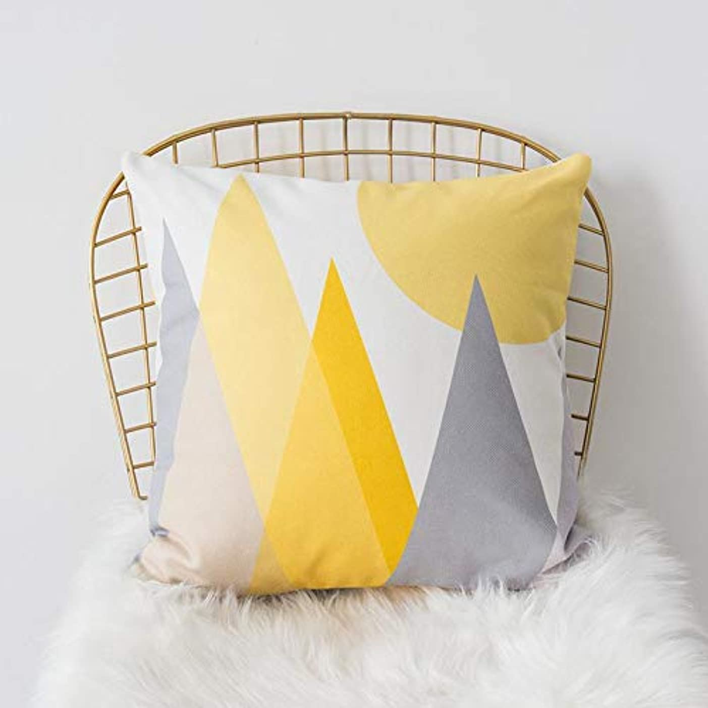 散文生態学本当のことを言うとLIFE 黄色グレー枕北欧スタイル黄色ヘラジカ幾何枕リビングルームのインテリアソファクッション Cojines 装飾良質 クッション 椅子