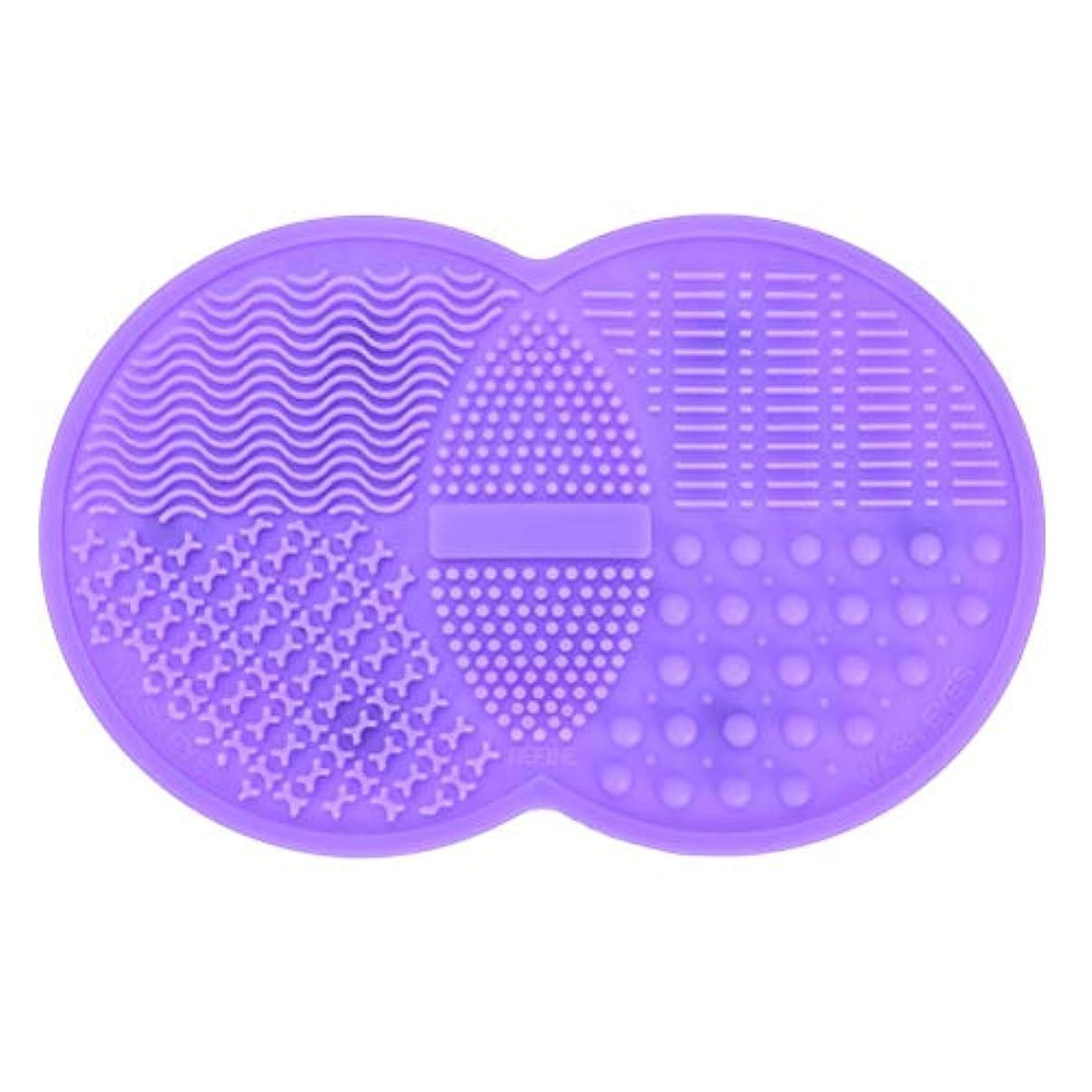 コロニアル夫敵Pichidr-JP メイクブラシ クリーナー シリコンマット化粧 洗浄 化粧筆 筆洗い(パープル)
