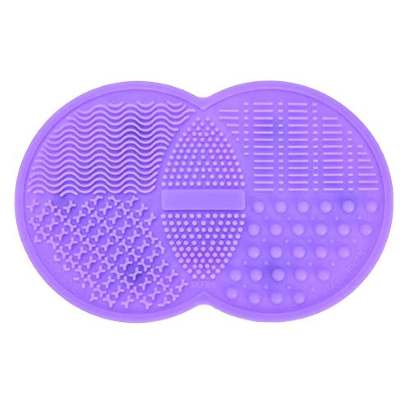 設置真似るエラーPichidr-JP メイクブラシ クリーナー シリコンマット化粧 洗浄 化粧筆 筆洗い(パープル)