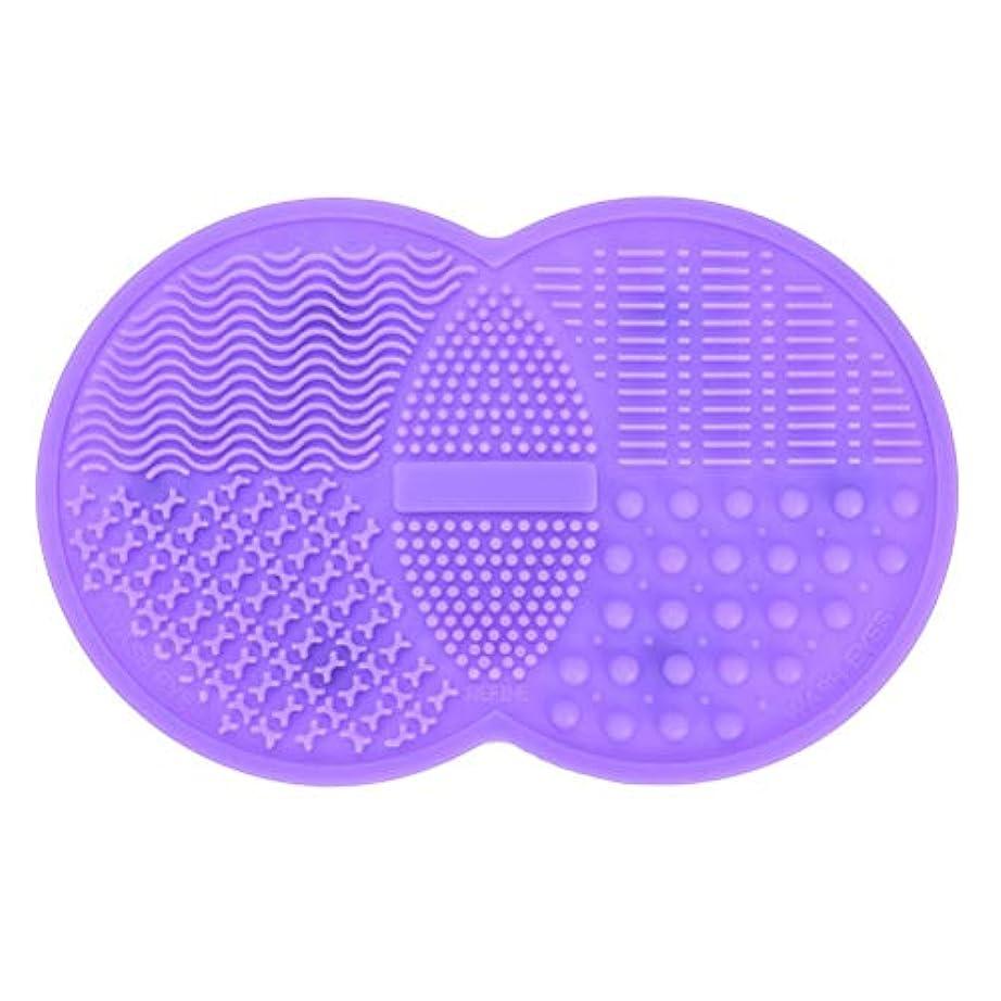 推論ええめまいがPichidr-JP メイクブラシ クリーナー シリコンマット化粧 洗浄 化粧筆 筆洗い(パープル)