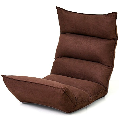 LOWYA (ロウヤ) 座椅子 【高反発&低反発のダブル触感!】 42段ギア リクライニング ブラウン おしゃれ 新生活