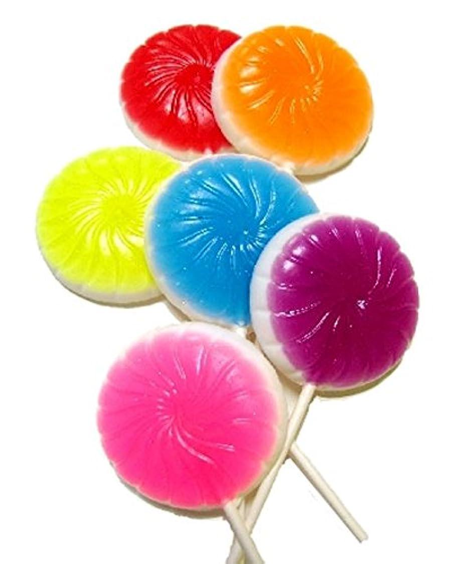 永久に物理学者コンベンションsoapy love(ソーピーラブ) LOLLY SOAPS ローリーソープ セッケン ギフト プレゼント キャンディー型 石鹸(lollysoaps) BLUERASBERRY