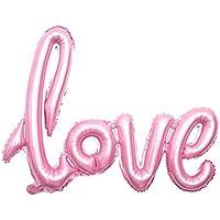 Yinweiwe アルミバルーン 風船 誕生日 パーティ お祝い 記念日 飾り 部屋 デコレーション 装飾 LOVE型風船 108*64cm 5色 ピンク