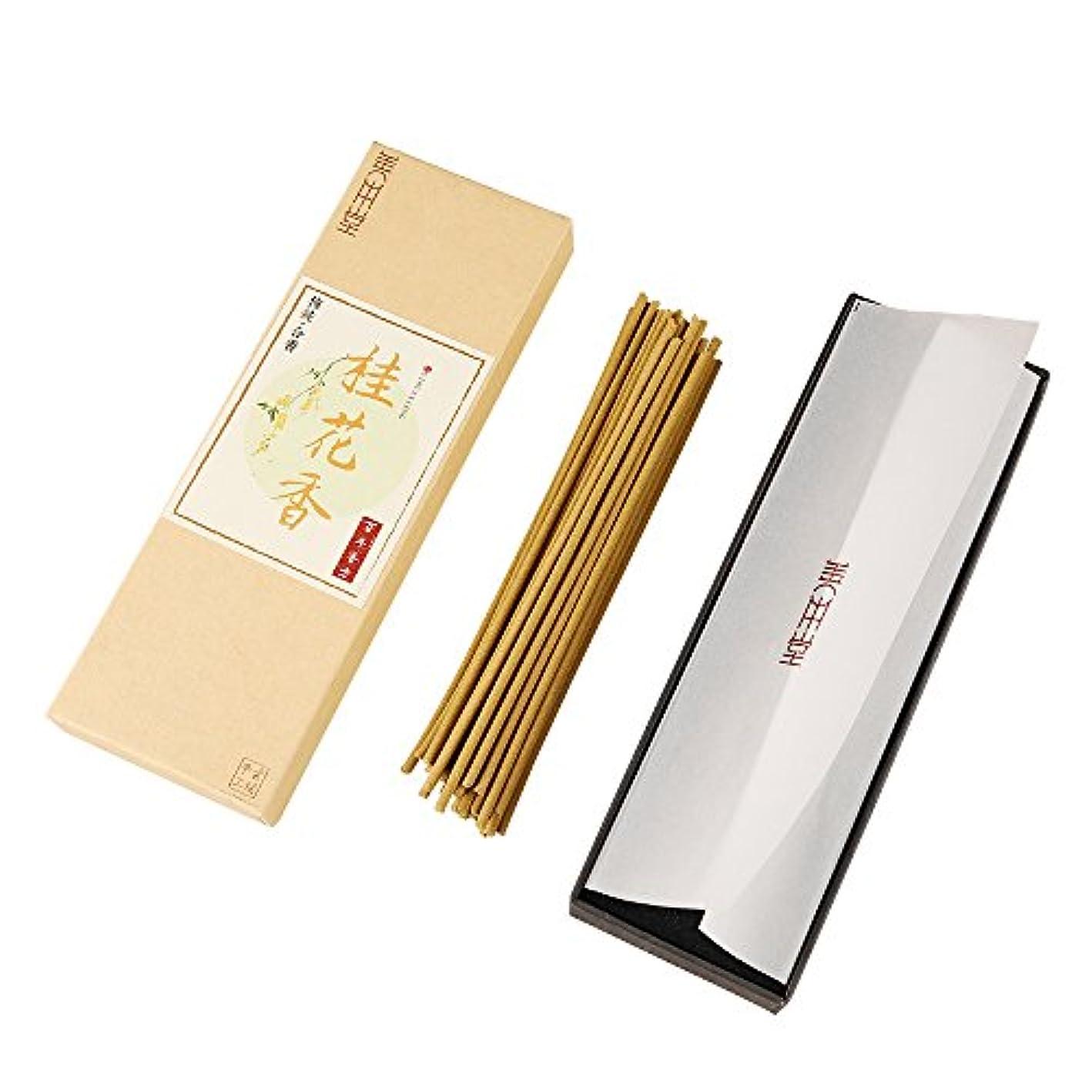脅威柔和飼料shanbentang Incense Sticks、純粋な自然手作りお香、sweet-scented Osmanthus 's Fragrance、プレミアム品質(5.5 in/50 sticks)
